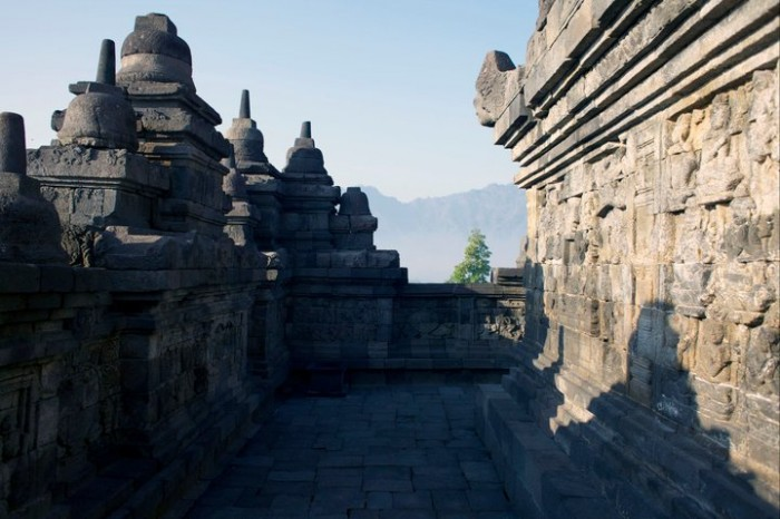 Borobudur temple, outside of Yogyakarta, Indonesia.