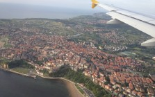 Flying into Spain