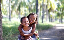 Smiling girls in Indonesia
