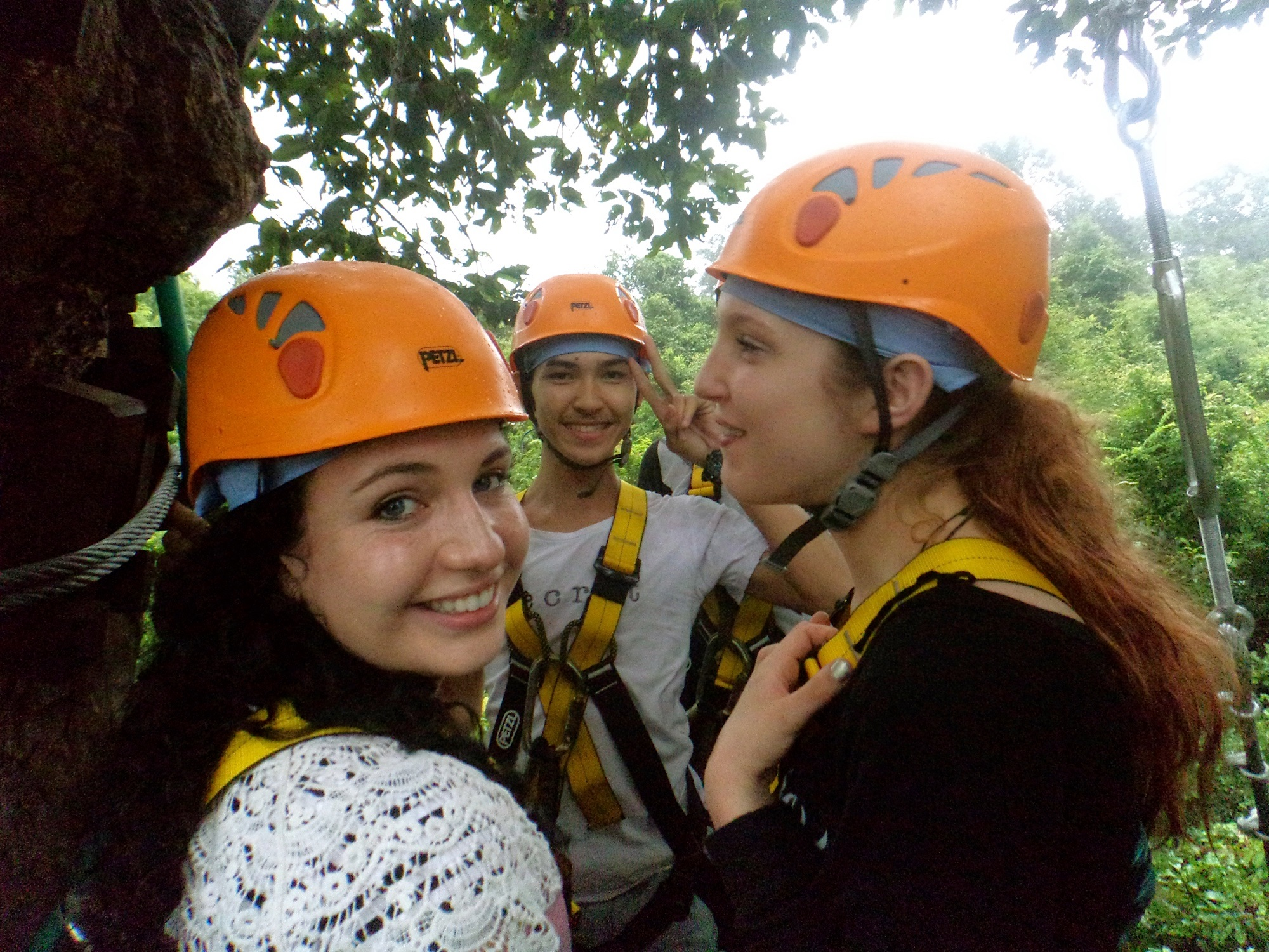 Zip lining in Angkor Kingdom