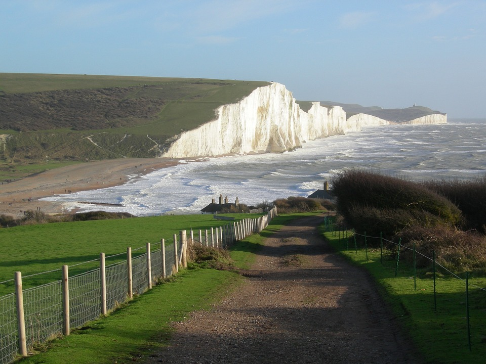 England Sussex Seven Sisters White Cliffs Coastline